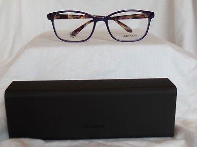 New Women's Vera Wang Eyeglass Frame V55 Amethyst Plastic 51-16-133