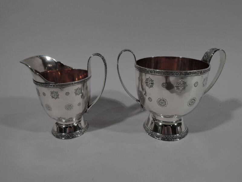 Tiffany Persian Creamer & Sugar - 3965 - Antique - American Sterling Silver