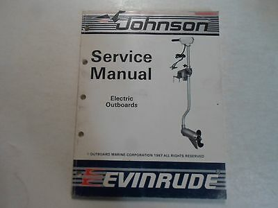 1988 Johnson Evinrude Electric Outboards Service Repair Shop Manual STAINED OEM