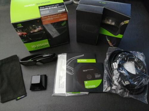 NVIDIA 3D Vision Kit INC Active 3D Glasses + IR Emitter Complete Kit Boxed