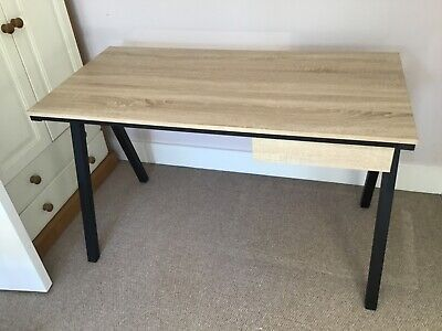 Home Office / Study Desk light Oak Veneer excellent condition