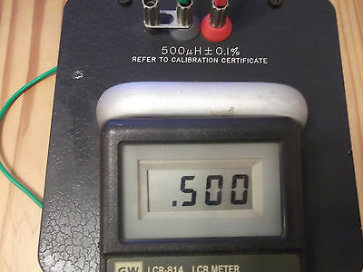 General Radio Standard Inductor 1482-d 500uh0.5mh Free Shipping