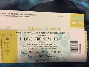 I love the 90's tour ticket