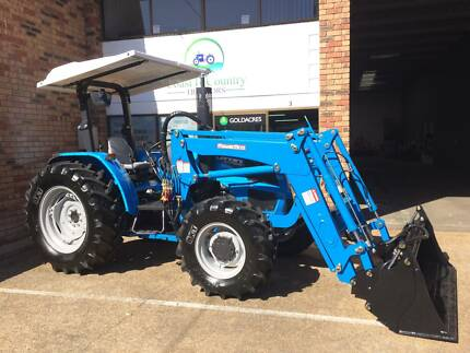 Brand new euroleopard ft454 tractor farming vehicles gumtree landini multifarm 90 tractor with 4in1 bucket fandeluxe Image collections
