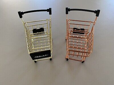 Vintage Metal Small Grocery Shopping Cart Lot Of 2 Decorative 5 Long