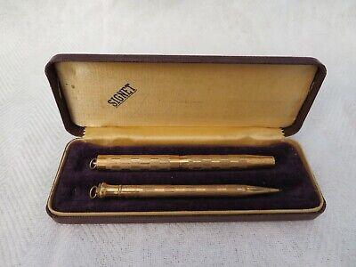 Vintage Antique Signet Gold Filled Rexall Pen & Mechanical Pencil Set w/Box