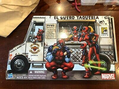 "SDCC 2013 Deadpool Corps Taco Truck Exclusive Marvel Universe 3.75"" Hasbro New"