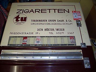 Sielaff Zigarettenautomat mit 10 Schubfächern, gebraucht, DM-Einwurf, historisch