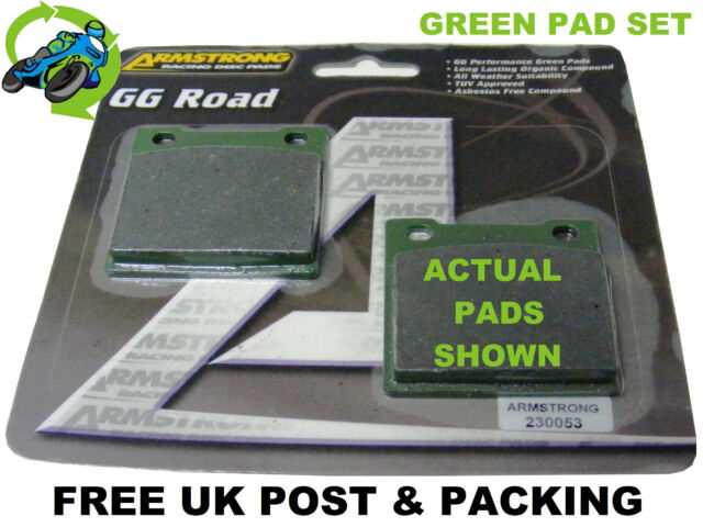 NEW ARMSTRONG GREEN BRAKE PADS PAD SET REAR SUZUKI GSF600 SK4 FAIRED BANDIT 04