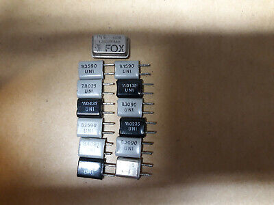 Qty13 Crystal Quarz Oscillator Assorted Frequencies 1.8-11.04mhz