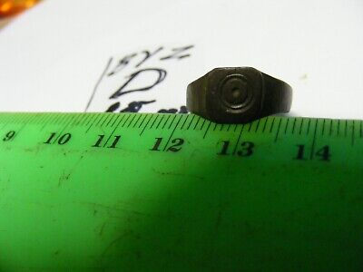 Ancient Byzantine bronze Ring, ,,Evil Eye Protection  15+mm size inside. (D)..