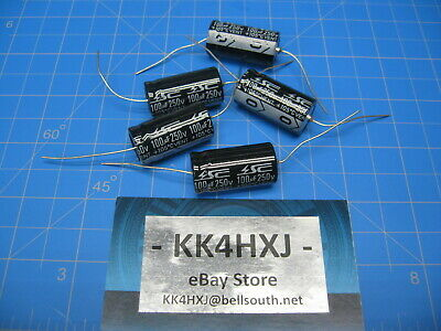 Sc - Gha Series - Axial Electrolytic Capacitors - 250v 100uf - 5 Pieces