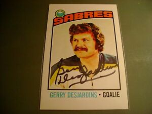 GERRY-DESJARDINS-HAND-SIGNED-AUTOGRAPH-AUTO-4X6-NHL-HOCKEY-PHOTO-BUFFALO-SABRES