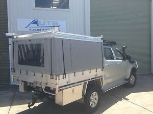 Ford Ranger Canvas Ute Canopy - HARD TOP CHECKERPLATE ROOF ONLY (DUAL CAB)