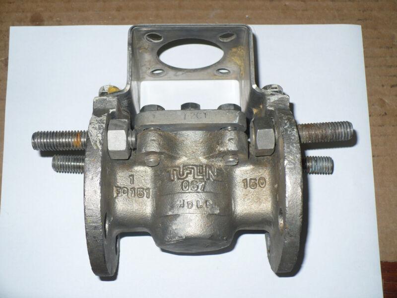 """Tufline 067 Plug Valve, 1"""", Class 150, CF8M, Used"""