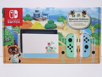 NINTENDO SWITCH ANIMAL CROSSING NEW HORIZONS SPECIAL EDITION CONSOLE FREE SHIP