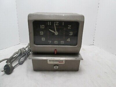 Vintage Stromberg 150 Punch Time Clock Recorder Mechanical Factory Parts Repair