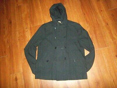 NEW JOHN VARVATOS Men's Wool Cotton Double Breasted Hooded Coat Jacket sz XL