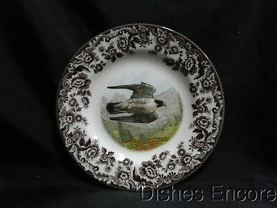 "Spode Woodland Birds of Prey Summer Peregrine Falcon: Salad Plate 7 3/4"" NEW Box"
