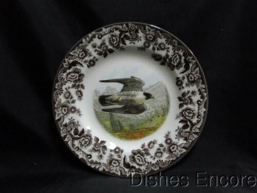 "Spode Woodland Birds of Prey Summer Peregrine Falcon: Salad Plate 7 3/4"" NEW Box"