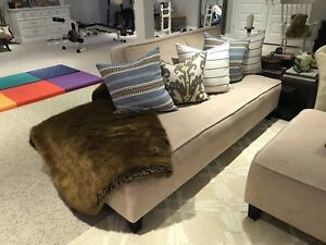 Couches and ottoman - beige