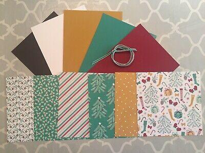 """Christmas Card Making Kits (Stampin' Up Presents & Pinecones DSP 6""""x6"""" Christmas Card Making Kit w/)"""