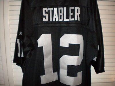 (OAKLAND RAIDERS KEN STABLER # 12 FOOTBALL JERSEY)