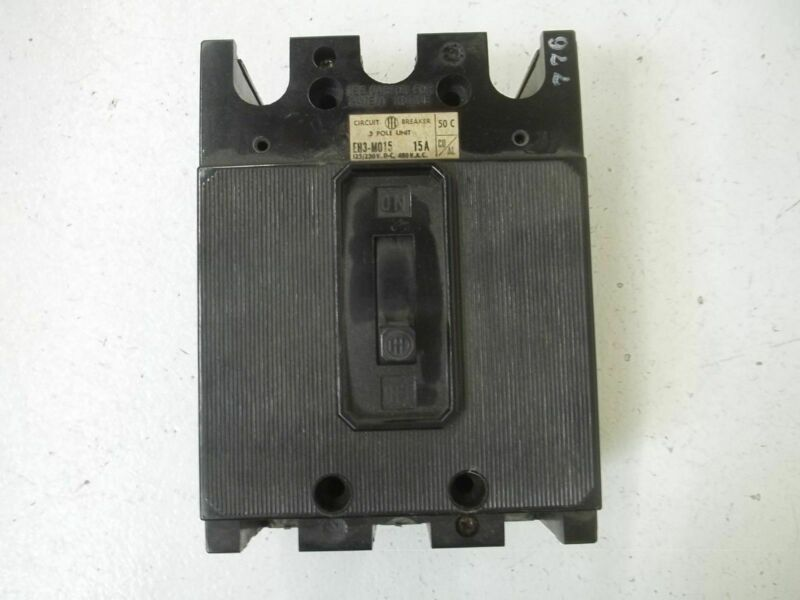 I-T-E EH3-M015 CIRCUIT BREAKER *USED*