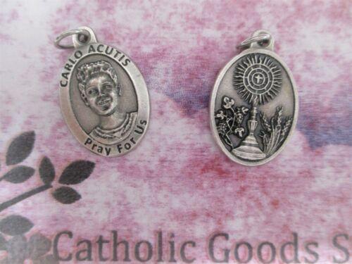 "St. Saint Carlo Acutis - Ox Italian Antique Silver Tone 1"" Medal"
