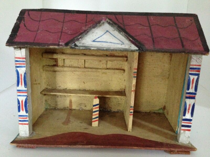 Antique German Christmas Putz Barn