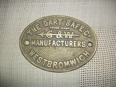 DART SAFE Co. WEST BROMWICH SAFE PLAQUE