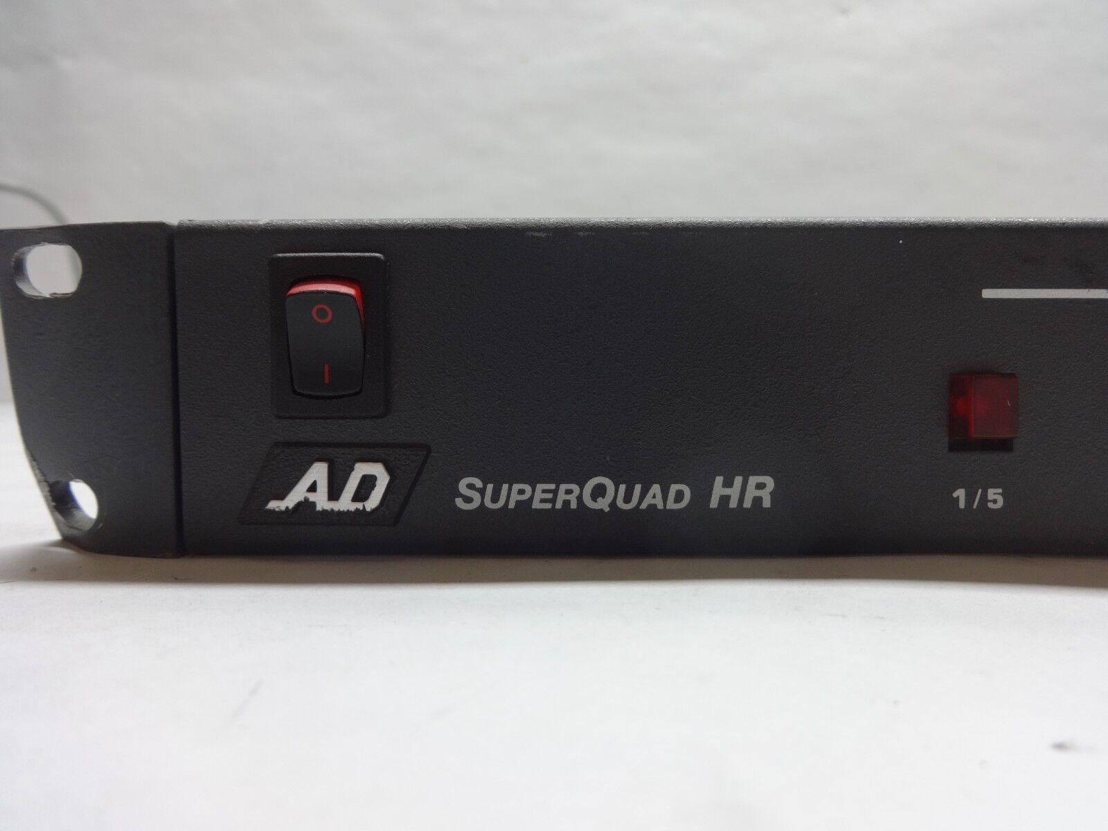 American Dynamics AD1476R Super Quad HR 8 Channel CCTV Video Switcher w/ PSU