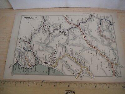 BUILTH ROAD ABERYSTWYTH BARMOUTH LLANDILO BRECON LLANIDLOES RAILWAY MAP 1915
