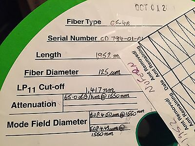 1900m Nufern Gf4a Cladding Mode Offset Photosensitive Fiber Cl Band Gratings