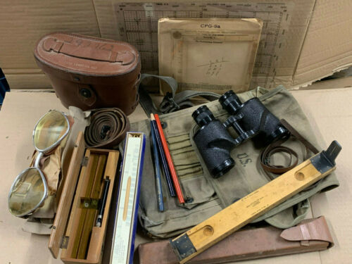 US Case Carrying M17 Binocular M3 6x30 Westinghouse 1942 & accessories