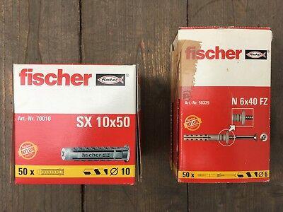 Fischer Nageldübel. 50 Stück. N 6 x 40 FZ. # 50339