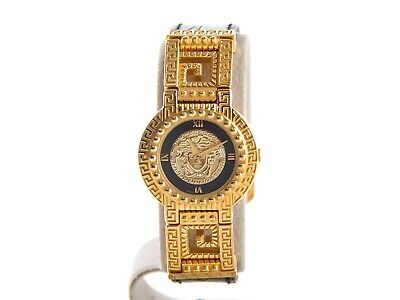Authentic vintage ladies Gianni Versace medusa Gold plated quartz watch