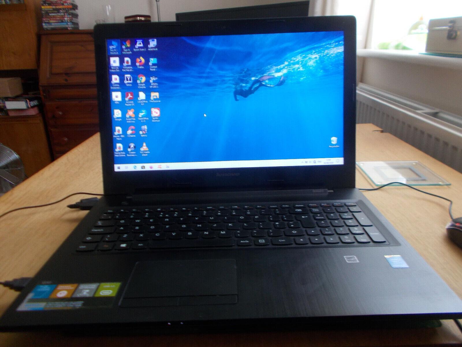 Laptop Windows - Lenovo G50 WiFi Laptop, Windows 10, Intel Pentium 2.16 GHz, 4GB RAM