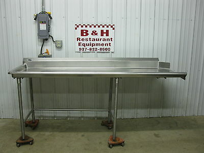 86 12 Stainless Steel Heavy Duty Left Side Clean Hobart Dish Washer Table 7