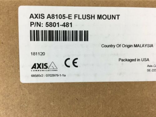 5801-481 A8105-E Flush Mount Camera Recessed Axis Communications aluminum