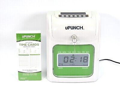 Upunch Electronic Time Clock Employee Work Hours Payroll Keys Included Used