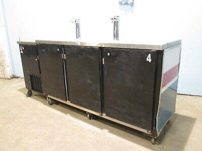 Perlick 1008c29887-ul Hd Commercial Nsf 3 Doors 2 Towers Beer Kegerator