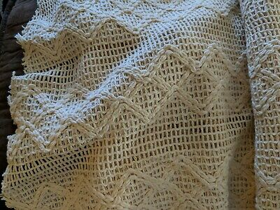 Ready to Ship Hand Crocheted Cabbage Rose Reversible Blanket Crib Size