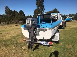 5m boat with 50hp Johnson Albany Albany Area Preview