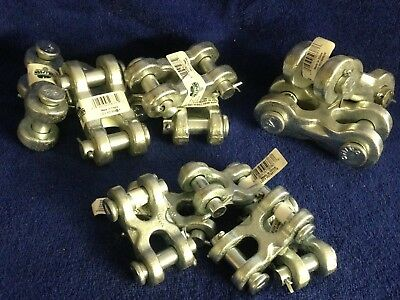 Nwt Hillman Double Clevis Link Lot Of 12pcs 3 Sizes Galvanized Forged Steel