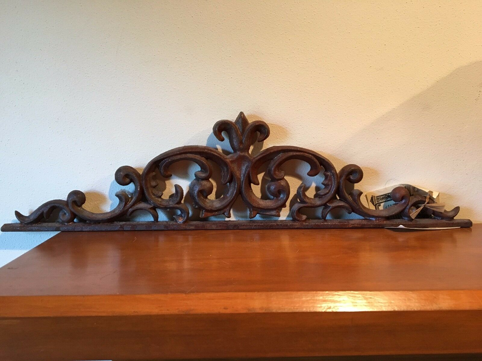 New!! Pontalba Valance - Rust Color - Cast Iron Wall Art               s2