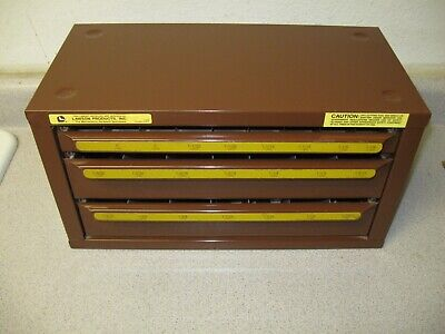 Unused Lawson Products 3 Drawer Drill Bit Hardware Metal Cabinet - Nice