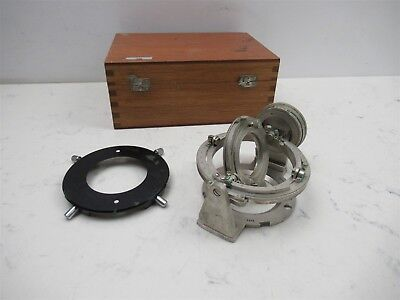 Leitz Wetzlar Germany Ut-5 Universal Rotary Stage 5-axis Microscope Unit Rare