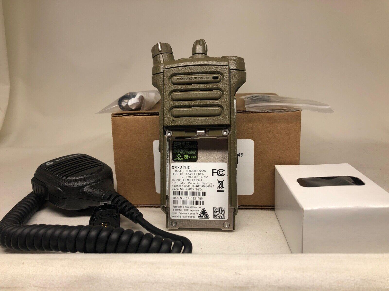 NEW RADIO: MOTOROLA SRX2200 MDL 1.5 UHF 380-470 MHZ UL/I.S AES256 MILITARY FLASH. Buy it now for 1250.00