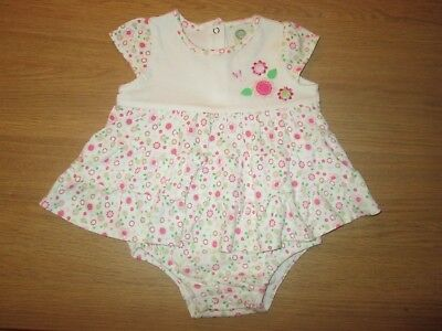 Little me Girls Dress With Attached Bodysuit - 6 Months